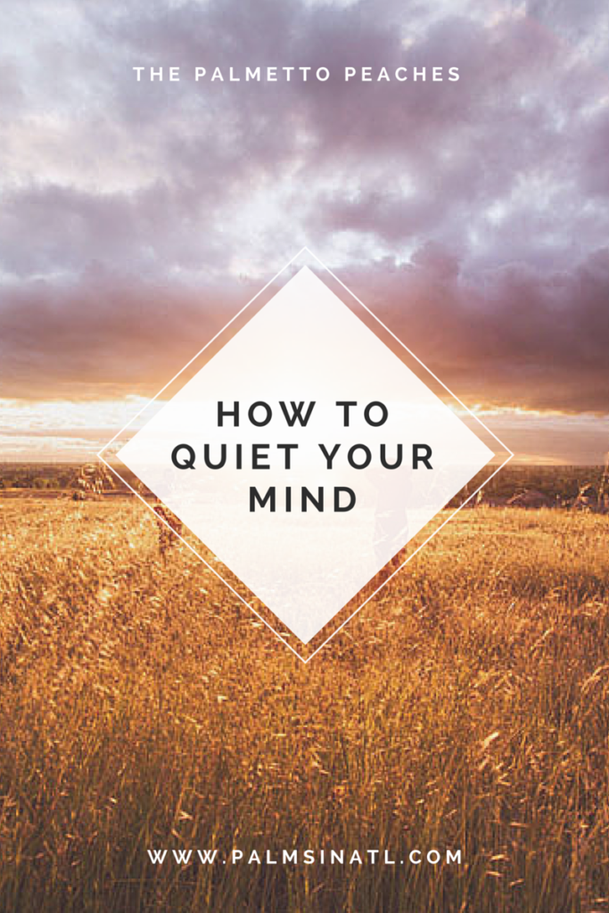How To Quiet Your Mind -- The Palmetto Peaches