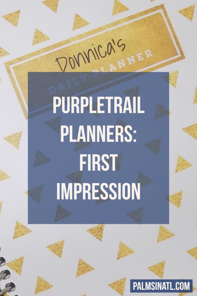 PurpleTrail Planners: Planner First Impression Video - The Palmetto Peaches - palmsinatl