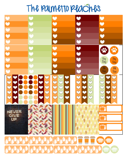 October - Fall - ECLP printable - The Palmetto Peaches