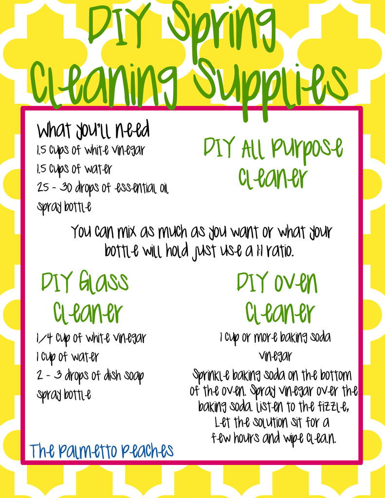 Spring Cleaning Printable - The Palmetto Peaches - palmsinatl.com
