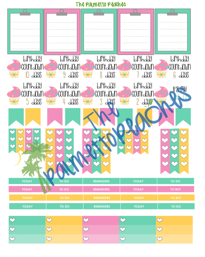 July Planner Stickers Printable - The Palmetto Peaches - palmsinatl.com