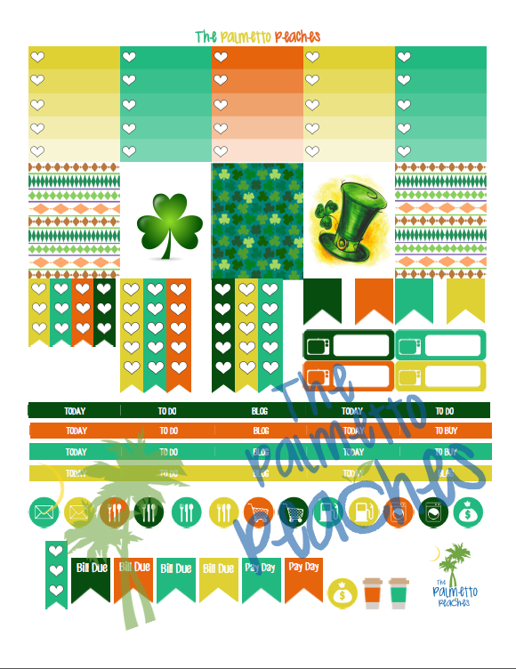 Get Lucky - March Planner Printable - The Palmetto Peaches