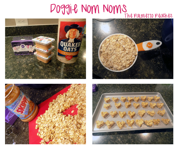 Homemade Dog Treats using baby food and rolled oats - The Palmetto Peaches