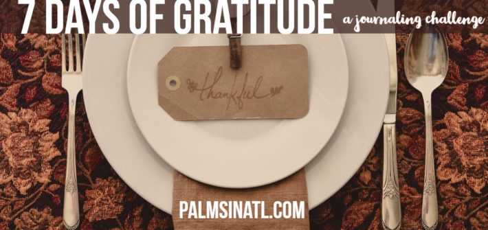 7 Days of Gratitude: A Journaling Challenge - The Palmetto Peaches - palmsinatl.com